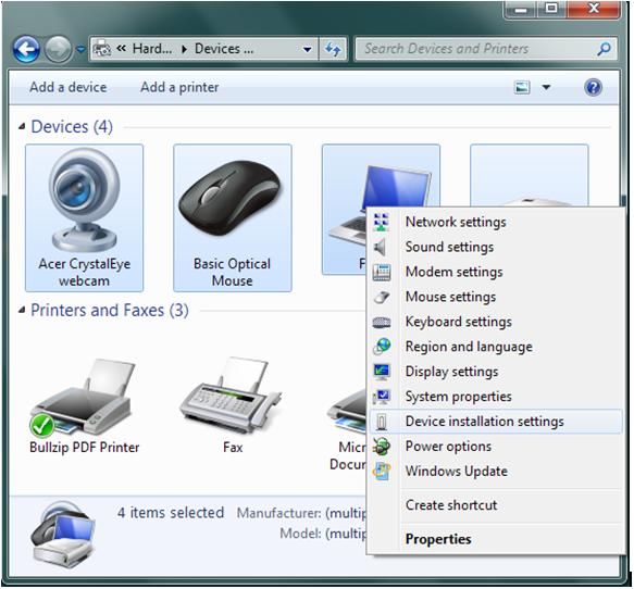 device driver installation